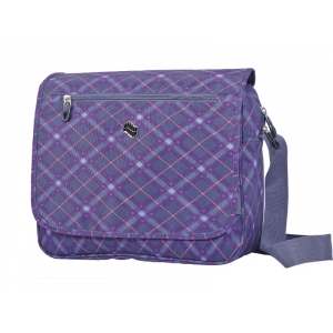 TORBA NA RAME PULSE VIOLET PLAID